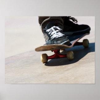 Skateboarding Closeup Poster