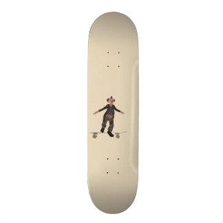 Skateboarding clown skateboard