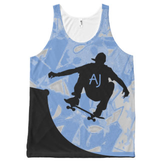 Skateboarding Design all over print Tank Top All-Over Print Tank Top