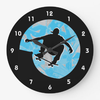 Skateboarding Design Wall Clock