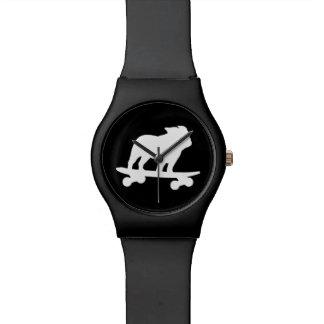 Skateboarding English Bulldog Silhouette Watch