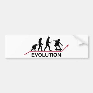 Skateboarding Evolution Car Bumper Sticker