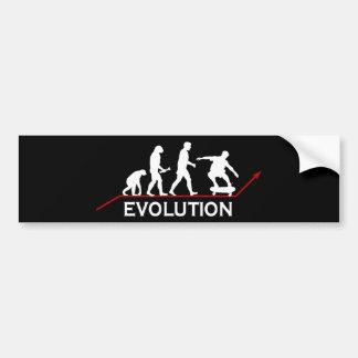 Skateboarding Evolution sticker Car Bumper Sticker
