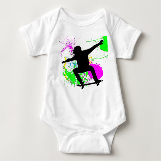 Skateboarding Extreme Baby Bodysuit