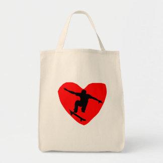 Skateboarding Heart Canvas Bag