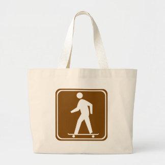 Skateboarding Highway Sign Tote Bags