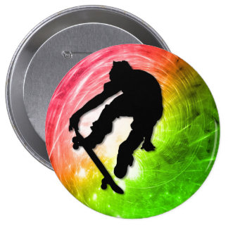 Skateboarding in a Psychedelic Cyclone Pins