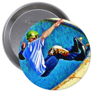 Skateboarding in the Bowl Pinback Button