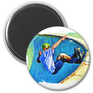 Skateboarding in the Bowl Magnets