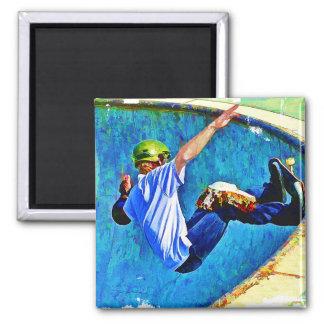 Skateboarding in the Bowl Refrigerator Magnet