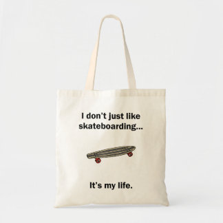 Skateboarding It's My Life Budget Tote Bag
