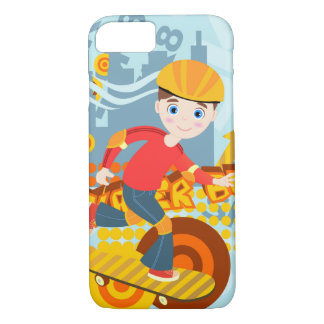 Skateboarding kid party iPhone 7 case