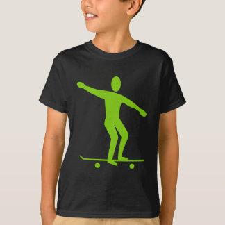 Skateboarding - Martian Green T-Shirt