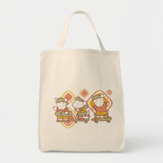 Skateboarding Mice T-shirts and Gifts Canvas Bags