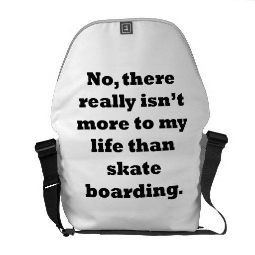 Skateboarding My Life Messenger Bags