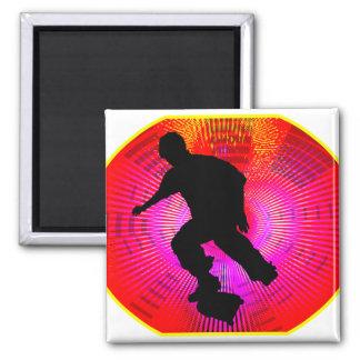 Skateboarding on Fluorescent Starburst Magnets