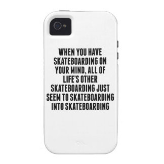 Skateboarding On Your Mind Vibe iPhone 4 Cover