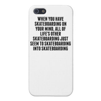 Skateboarding On Your Mind iPhone 5/5S Cover