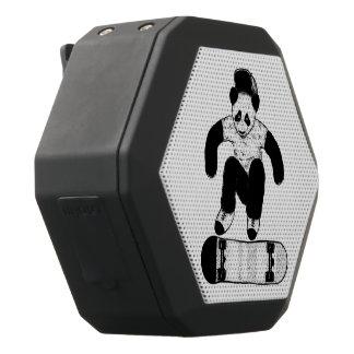 Skateboarding Panda Black Bluetooth Speaker