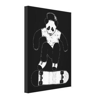 Skateboarding Panda Canvas Print