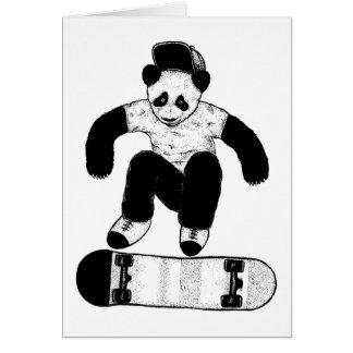 Skateboarding Panda Card