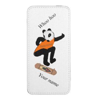 Skateboarding Panda Heel Flipping, add name