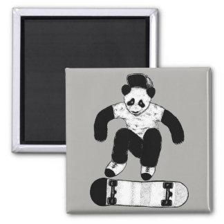 Skateboarding Panda Magnet