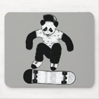 Skateboarding Panda Mouse Pad
