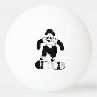 Skateboarding Panda Ping Pong Ball