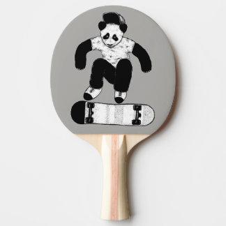 Skateboarding Panda Ping Pong Paddle