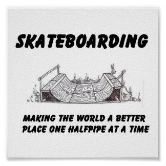 skateboarding philosophy poster