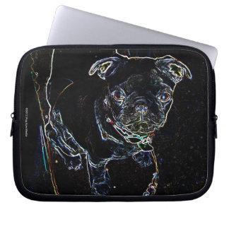 Skateboarding Pug Laptop Case