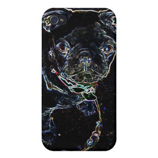 Skateboarding Pug Phone Case iPhone 4/4S Cover