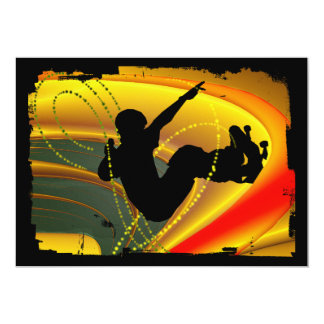 "Skateboarding Silhouette in the Bowl 5"" X 7"" Invitation Card"