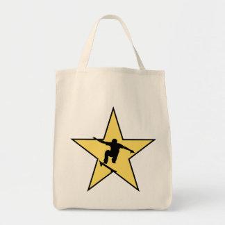 Skateboarding Star Tote Bag
