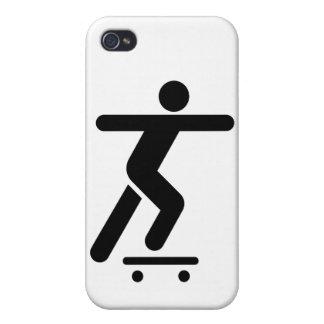 Skateboarding Symbol Case For iPhone 4