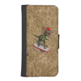 Skateboarding T-Rex Phone Wallet Cases