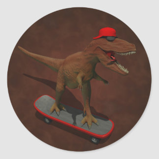 Skateboarding T Rex Sticker