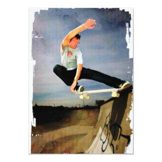 "Skateboarding the Wall 5"" X 7"" Invitation Card"