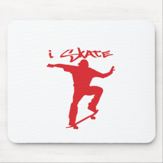 Skateboarding trick mouse pad
