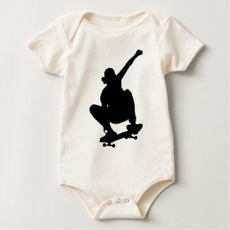 Skateboarding Trick Silhouette Baby Bodysuit