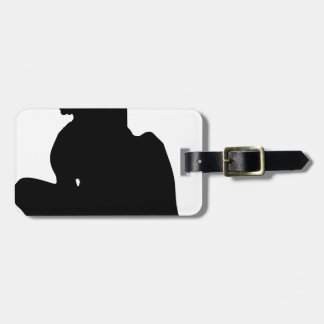 Skateboarding Trick Silhouette Luggage Tag