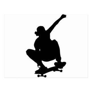 Skateboarding Trick Silhouette Postcard