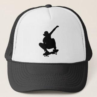 Skateboarding Trick Silhouette Trucker Hat