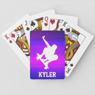 Skateboarding; Vibrant Violet Blue and Magenta Poker Deck