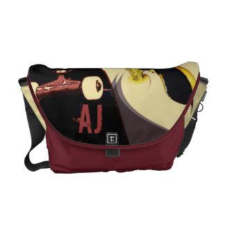 skateboarding - vintage styling - messenger bag