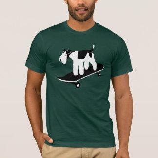 Skateboarding Wire Fox Terrier T-Shirt