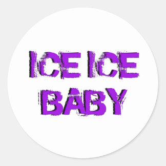 SkateChick Ice Ice Baby Round Sticker