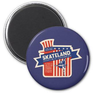 Skateland Cleveland Rollerskating 6 Cm Round Magnet