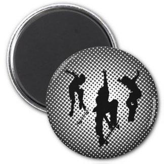 Skater 6 Cm Round Magnet